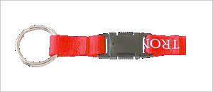 脱着式バックル+2重リング 脱着バックルの先端にリングを付けた組み合わせ。